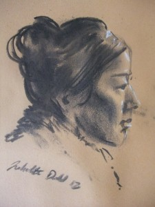Charcoal with chalk highlights