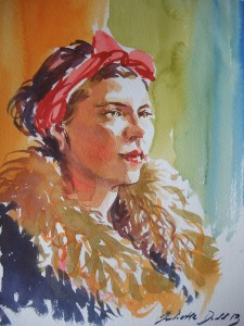 Watercolour - using the primary colours