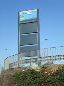 Signage design on the A21 entrance to Hastings 2012